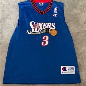 Boys Iverson 3 Sixers Basketball Jersey Vintage